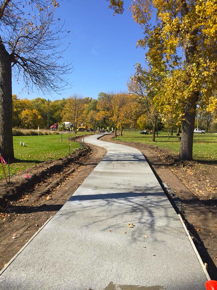 Photo by West Point Trails and Pathways Committee   Concrete pathways in Neligh Park will improve accessibility throughout the area.