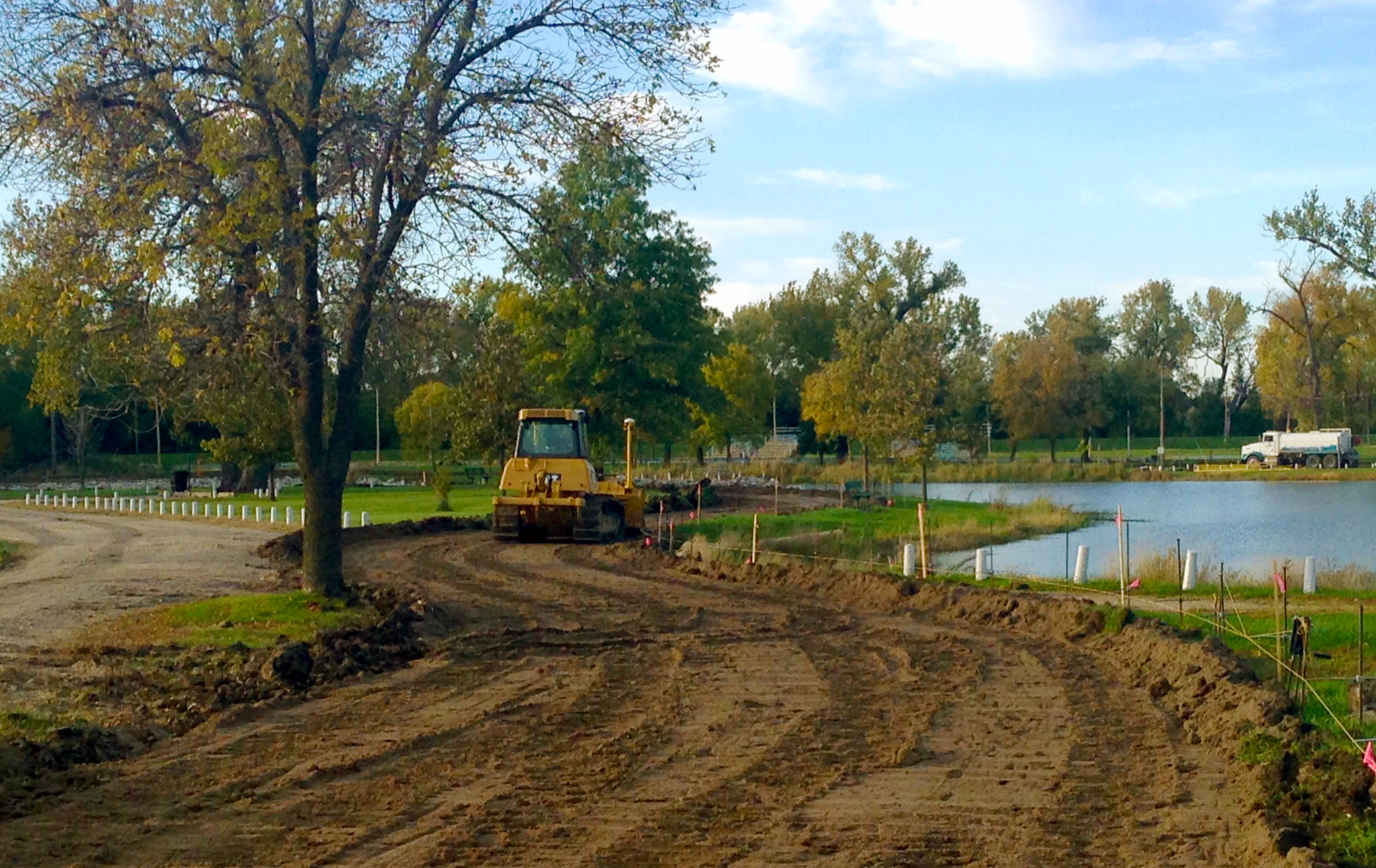 Photo by West Point Trails and Pathways Committee   Trees that are removed for the new concrete paths and roadways will be replaced, the committee says.
