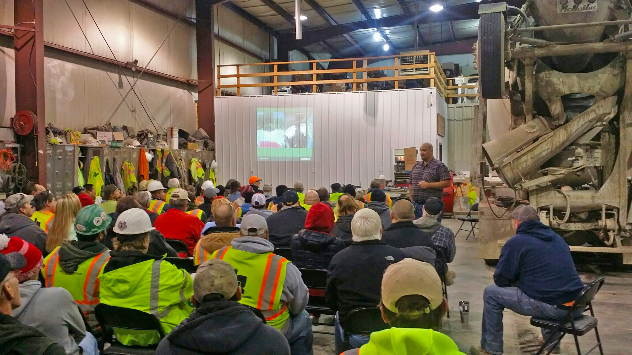 Field Safety Specialist Shawn Cassidy gives a safety presentation to Lyman-Richey Corporation employees.   Photo by  Lyman-Richey Corporation