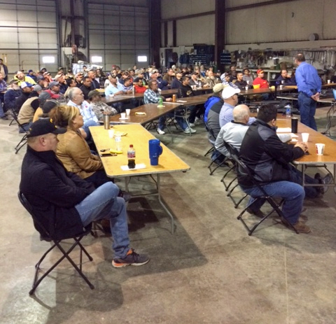 Photo by SHAWN CASSIDY/Lyman-Richey Corporation   Spring refresher training in South Sioux City, Neb.