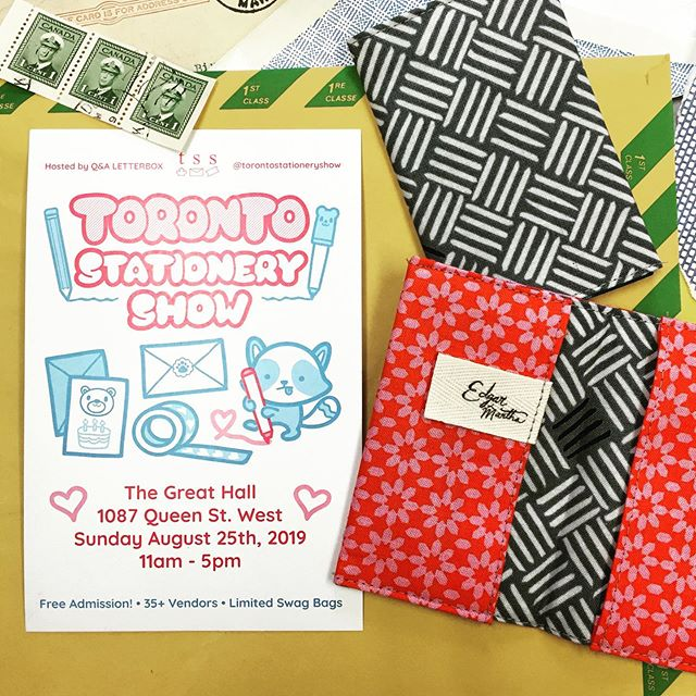 A few lucky people who snag a swag-bag at the @torontostationeryshow will also get these special edition security-envelope card wallets. Something simple for your most essential. 😉💌💰Hope to see you on August 25 at the Great Hall!