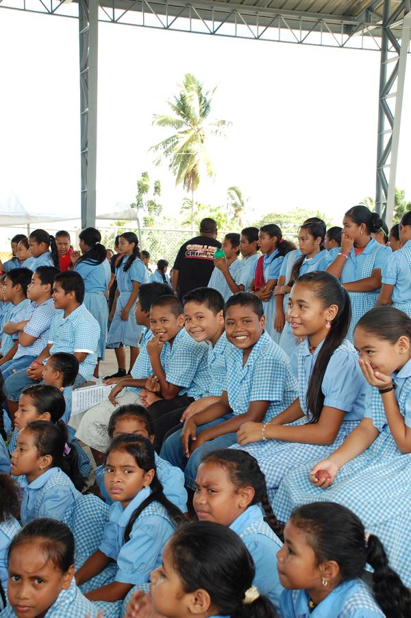 Children at Koror Elementary School