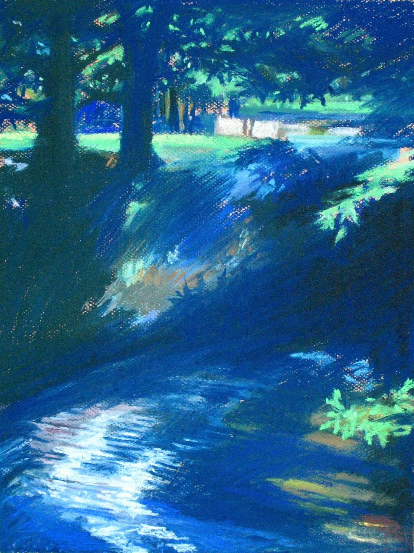 Mountain Stream at Midnight