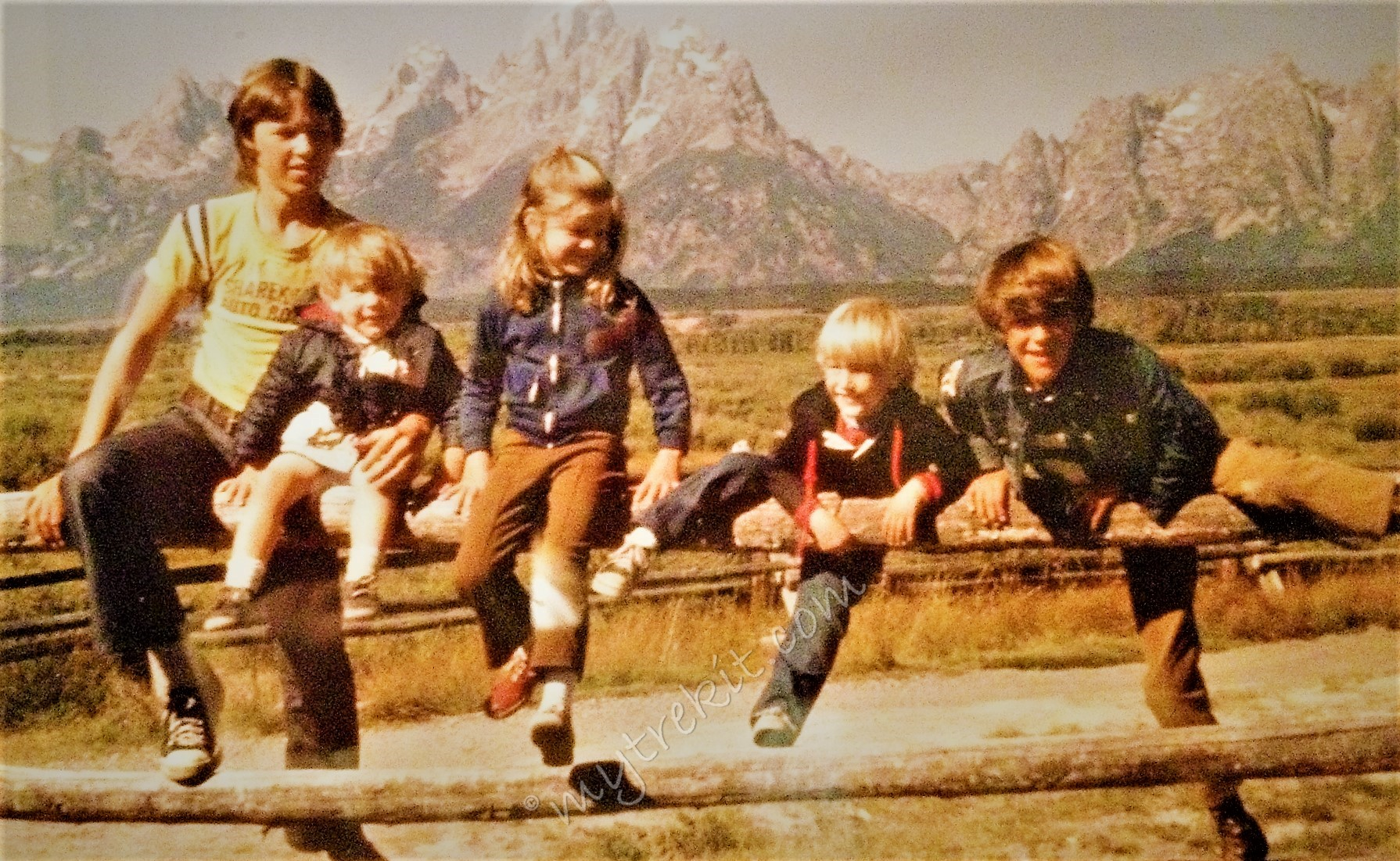 Me and the bros: - Our family's own iconic photo, Grand Tetons, Wyoming