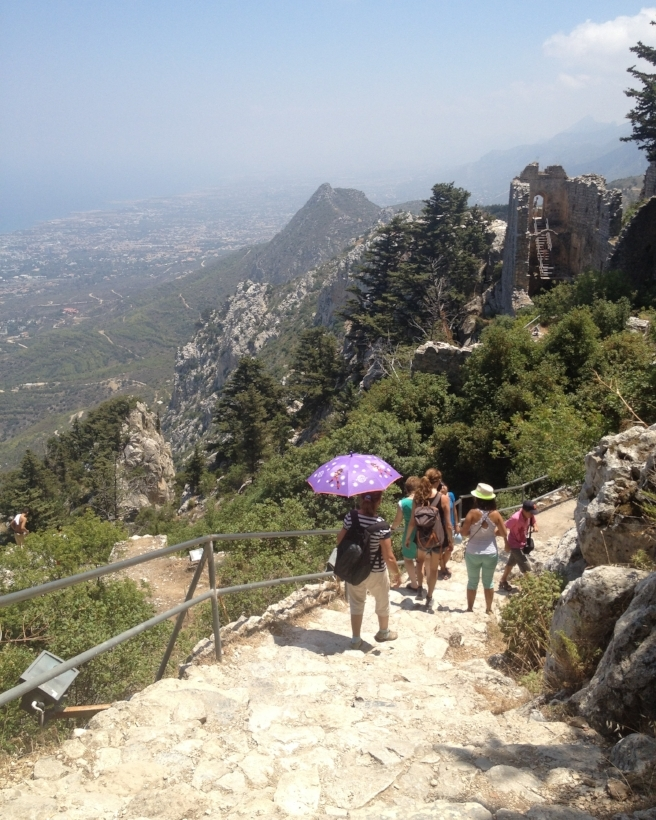 - Gazing at the fabulous view from the trail up to the ruins of St. Hilarion's Castle, Kyrenia, Cyprus.