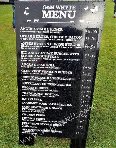 you will find a variety of food options at the Games.