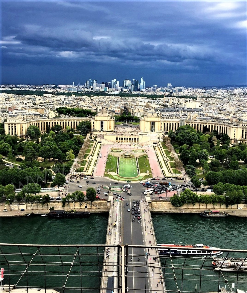 The views of Paris from the Eiffel Tower's 2nd Floor ~~don't waste your time going to the 3rd Floor.