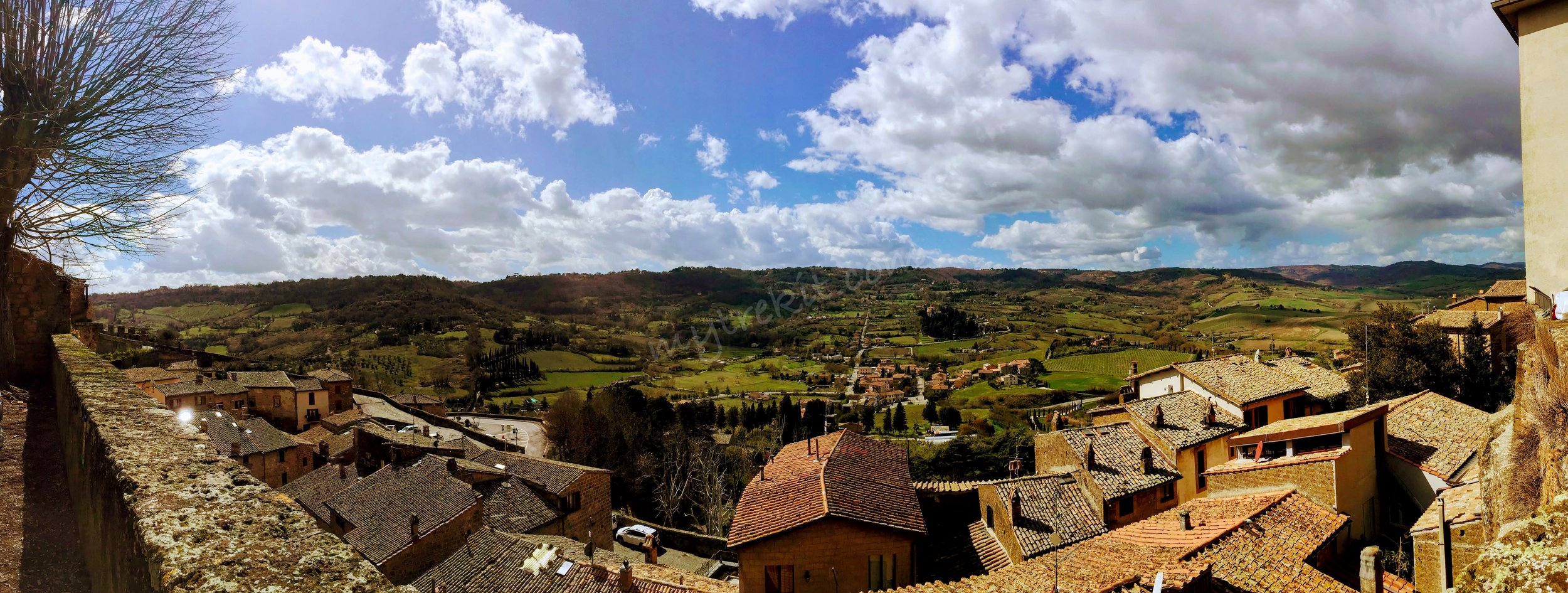 Stunning views from the hilltop town of Orvieto, Italy.