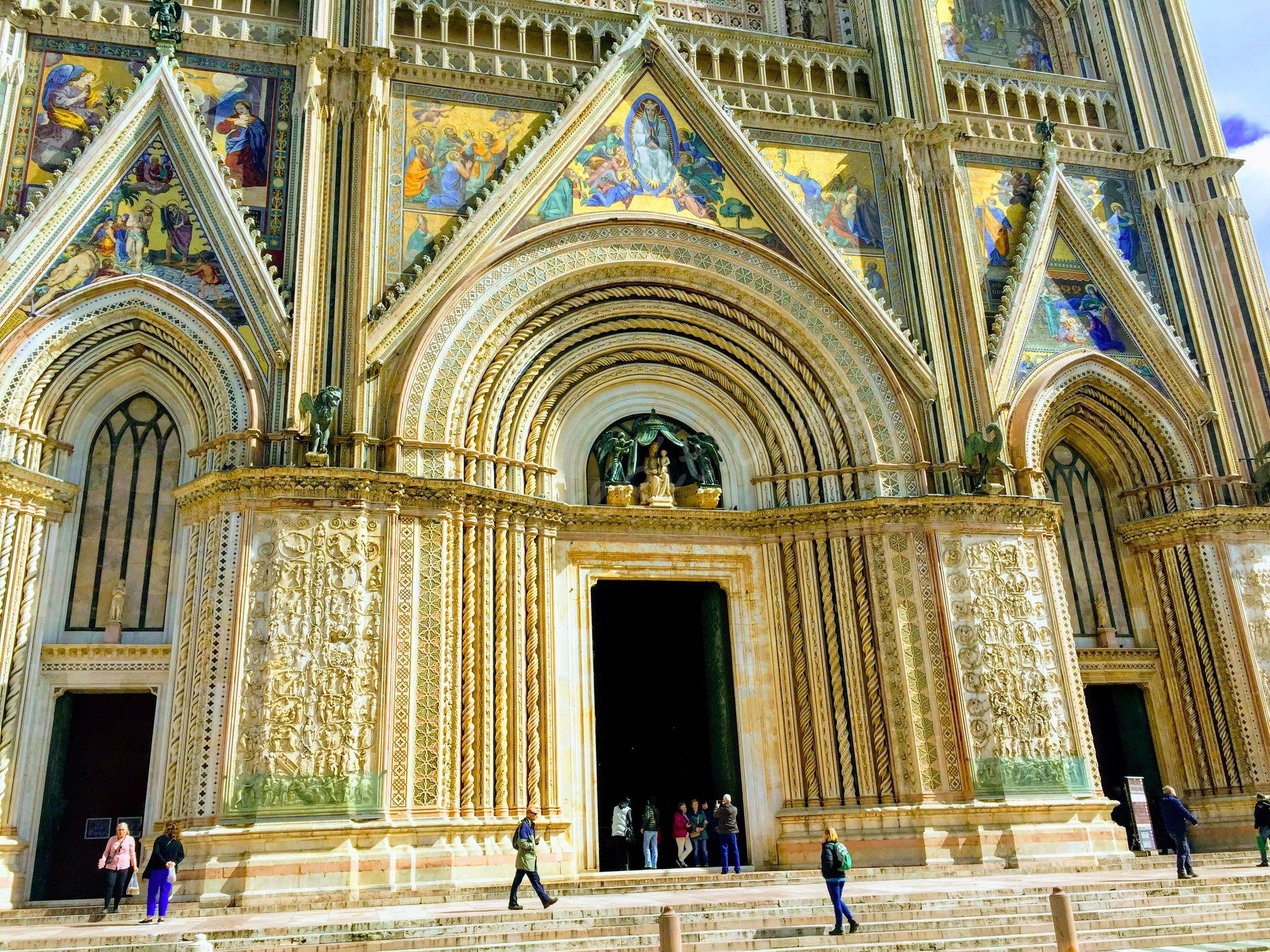 The duomo's facade is one of the most colorful and intricate i have seen to date.