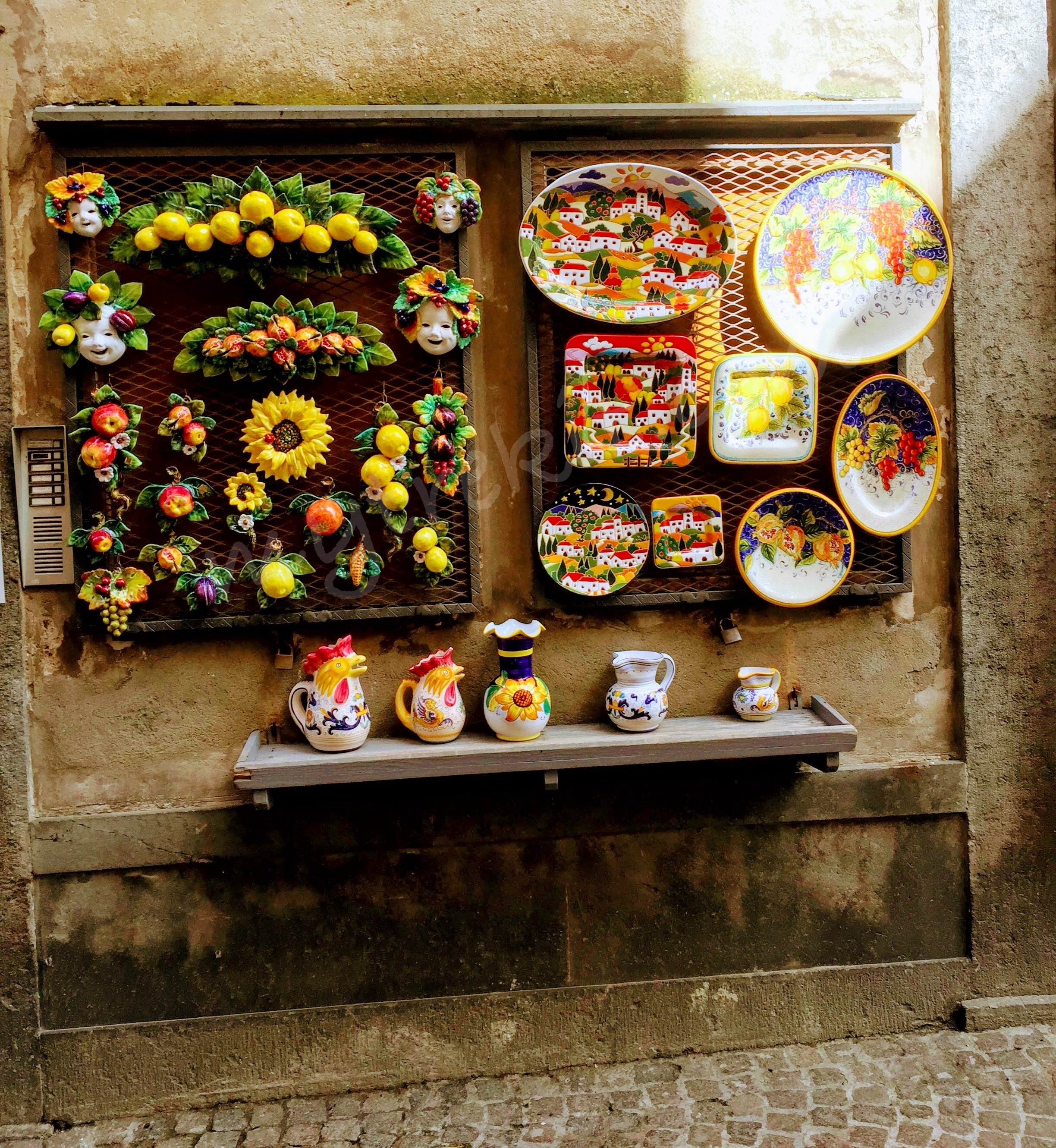 Orvieto's ceramic tradition is on display in several shops.