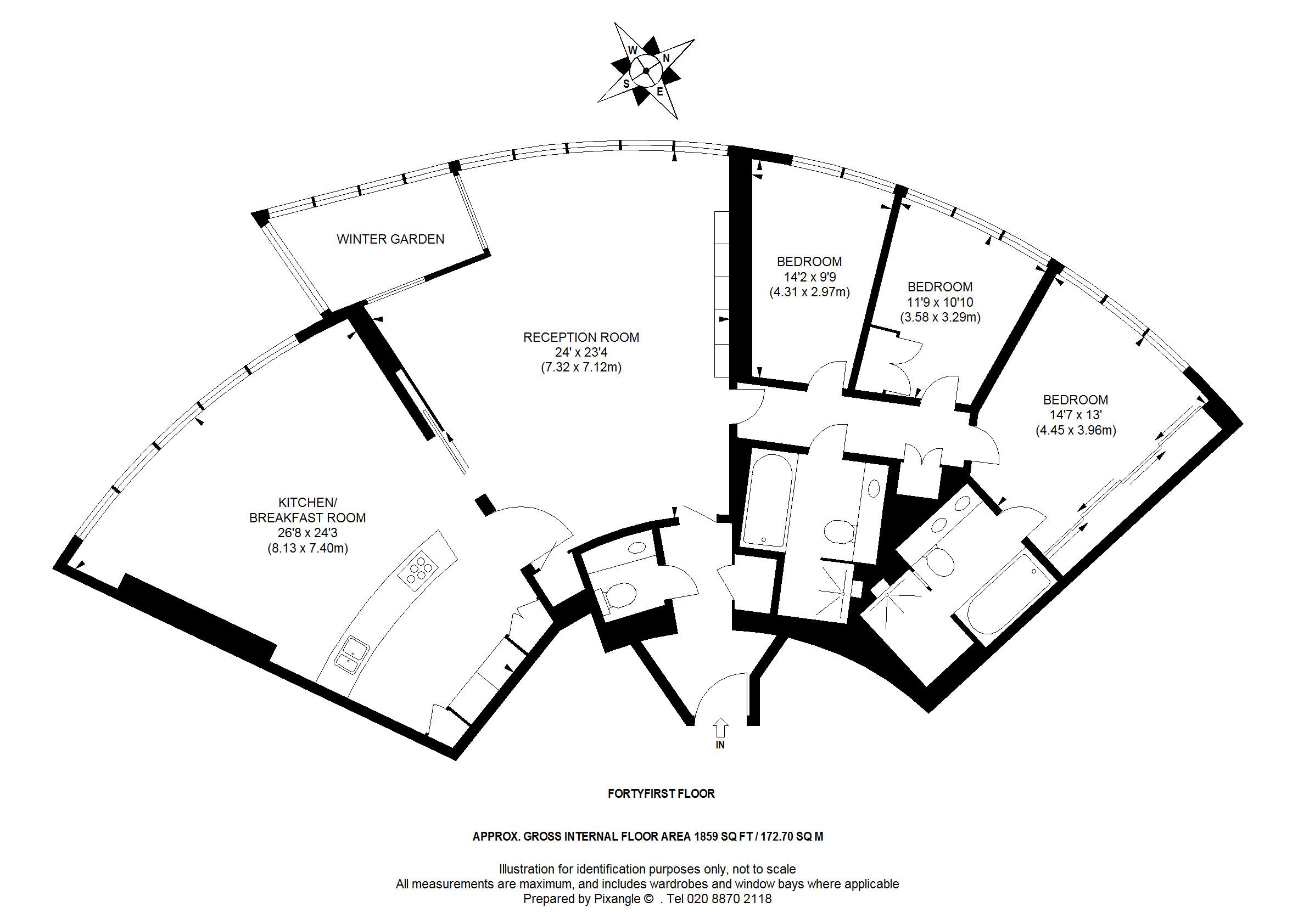 Circular shape floor plan