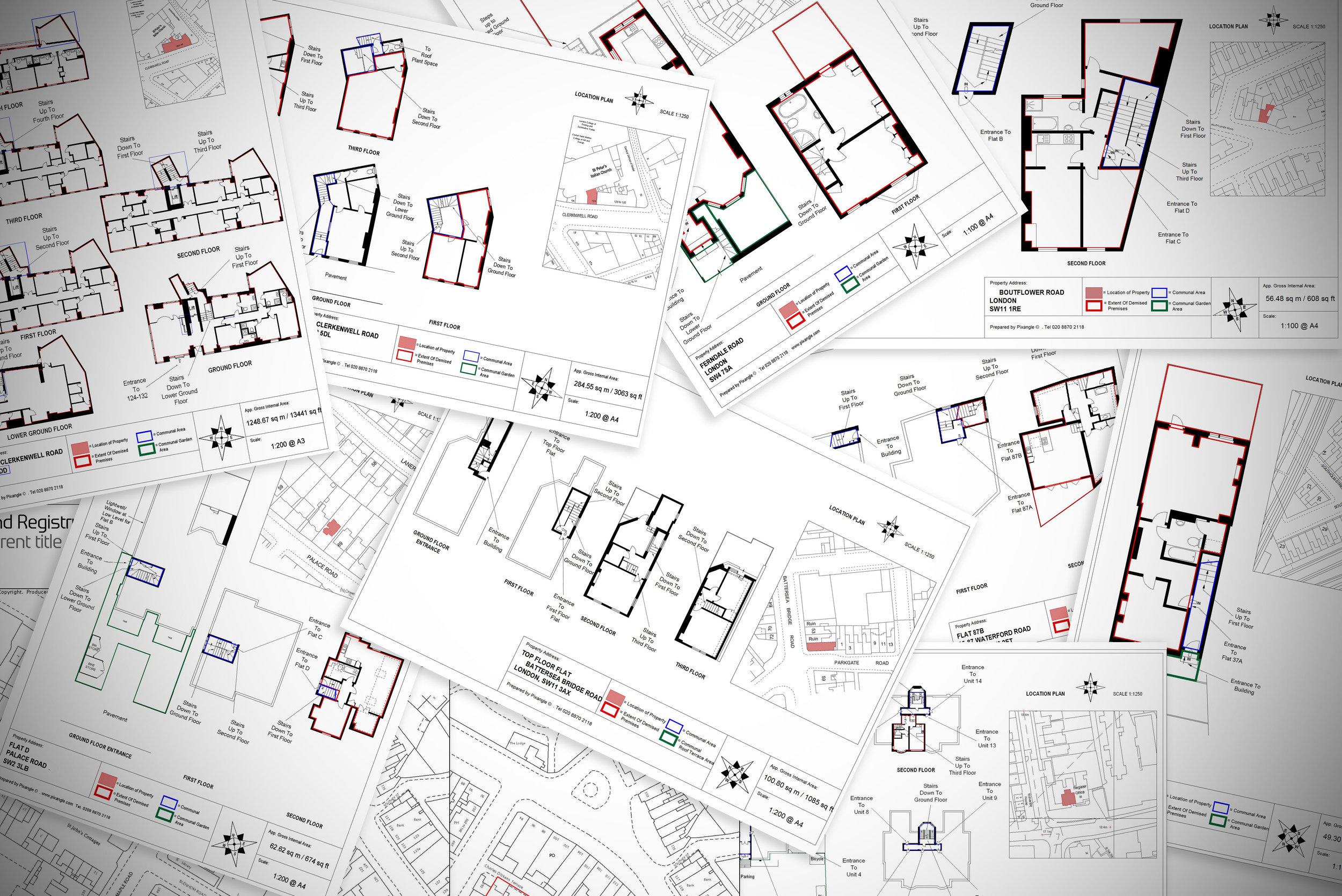 Lease plan drawing