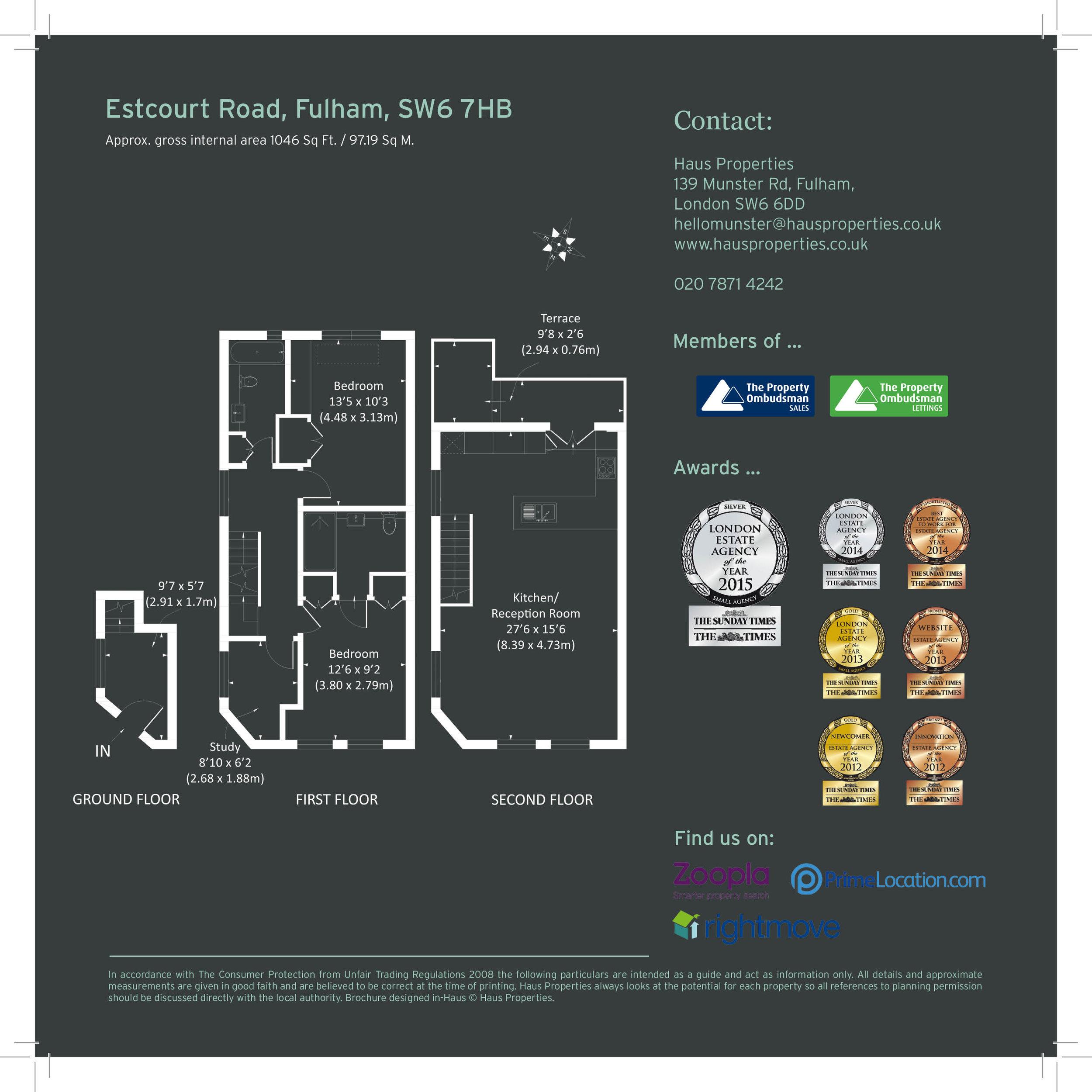 Floor plan in brochure