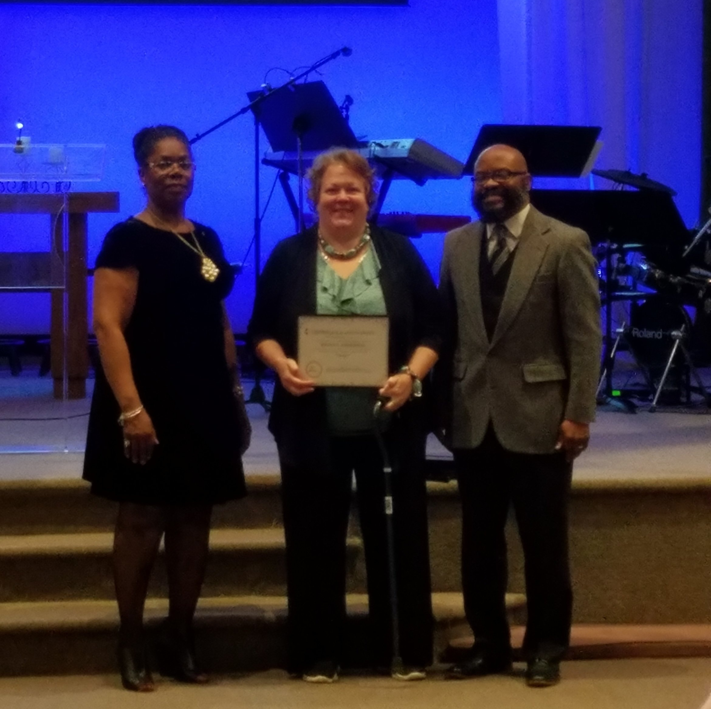 CONGRATULATIONS TO BRENDA ANDERSON OUR YOUTH DIRECTOR ON RECEIVING THE OUTSTANDING YOUTH DIRECTOR AWARD BY THE WILMINGTON DISTRICT CONFERENCE ON MARCH 18TH AT CORNERSTONE UMC.