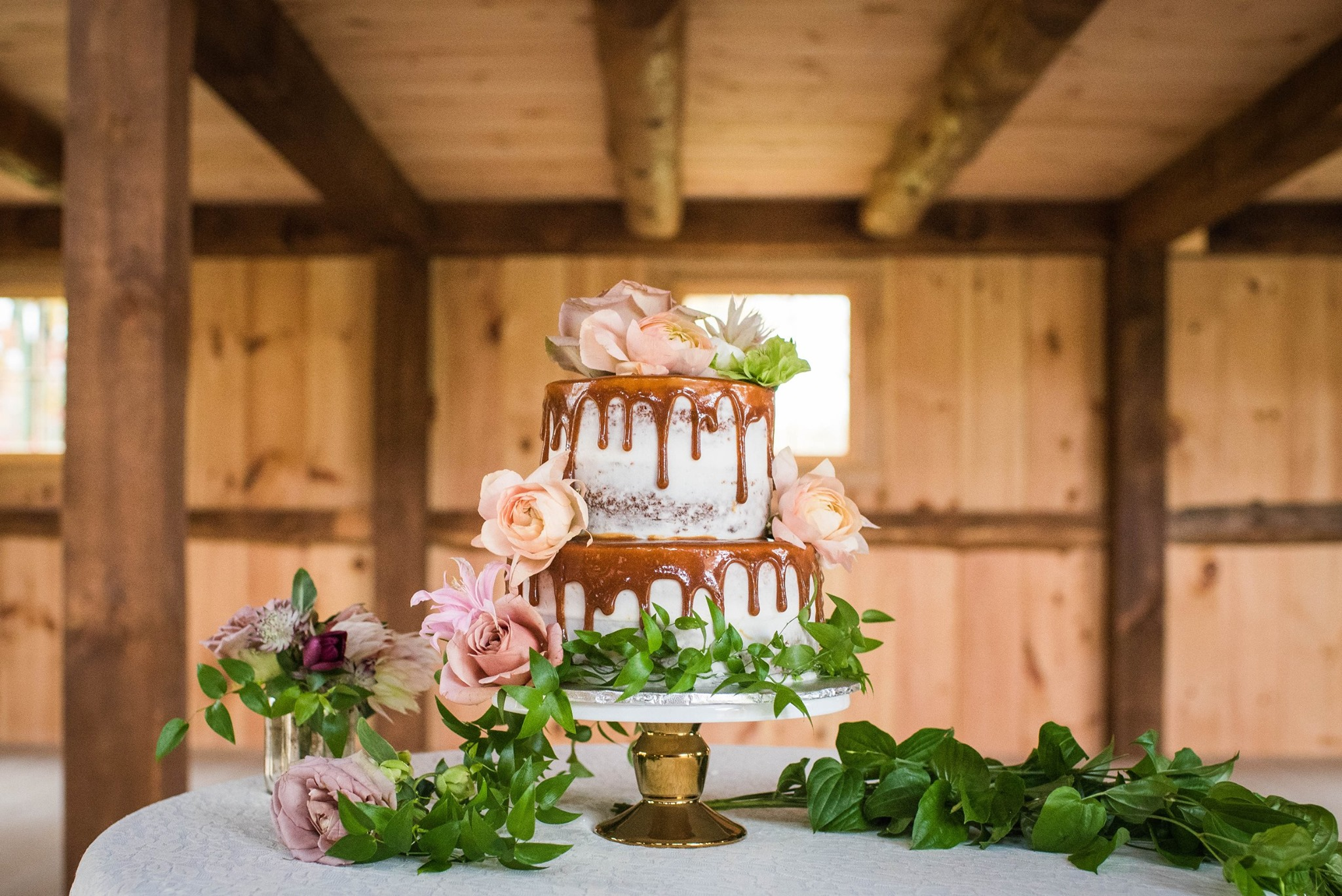 Bohemian style wedding cake (Flowers provided by Free range floral DESIGN) (Photo taken by FReebird photography)