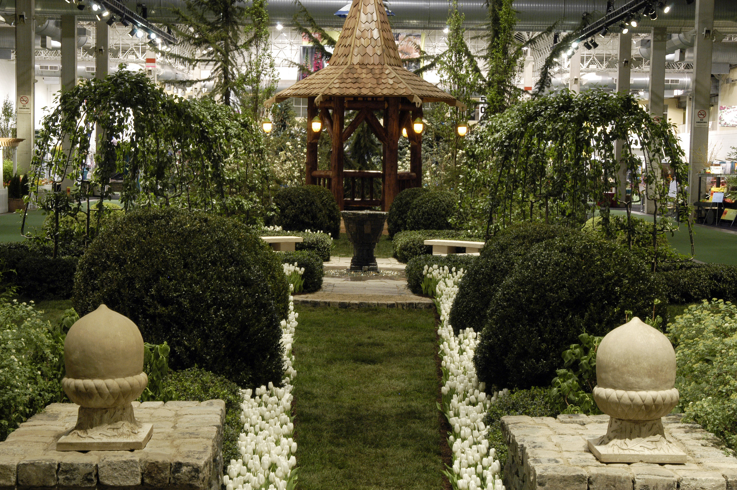 Chicago Tribune, 2005 - A Renascent PerspectiveIn partnership with Chelsea Flower Show's award-winning designers, Tim Redwood of Redwood Stone in Wells, England, and Andrew McIndoe of Hillier Garden Centres in Romsey, England, John Cullen of Celtic Garden Imports in Ann Arbor, Mich. returns for a third year at the Chicago Flower & Garden Show with a recreation of the Abbot's private garden at the Medieval Glastonbury Abbey.