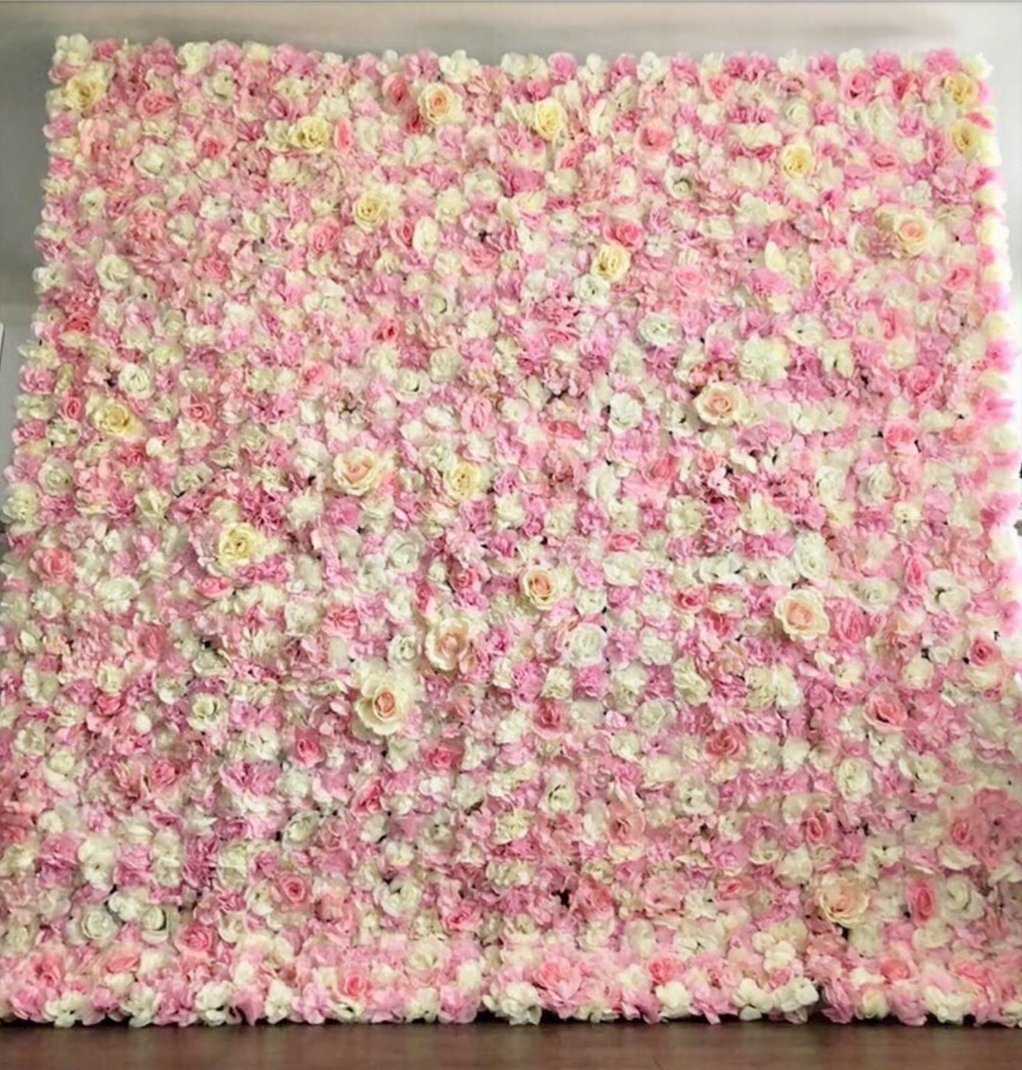 Pink Flower Wall -