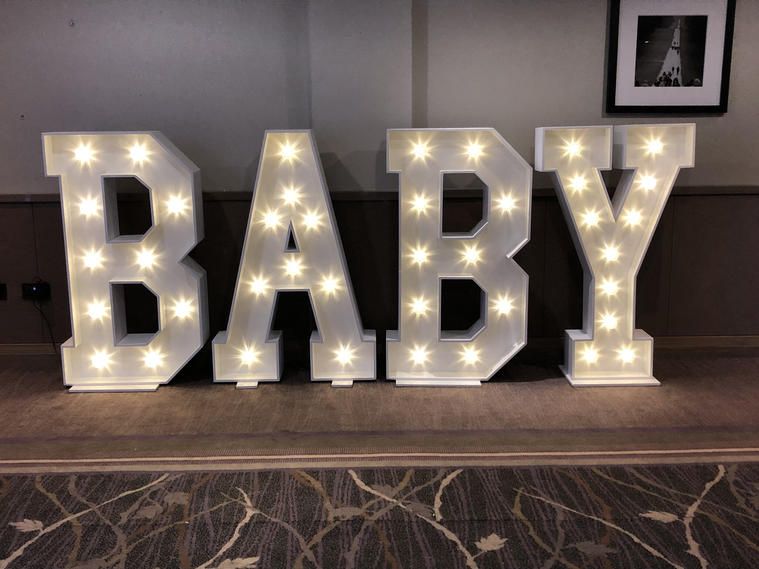 4FT BABY Light Up Letters - £135.00