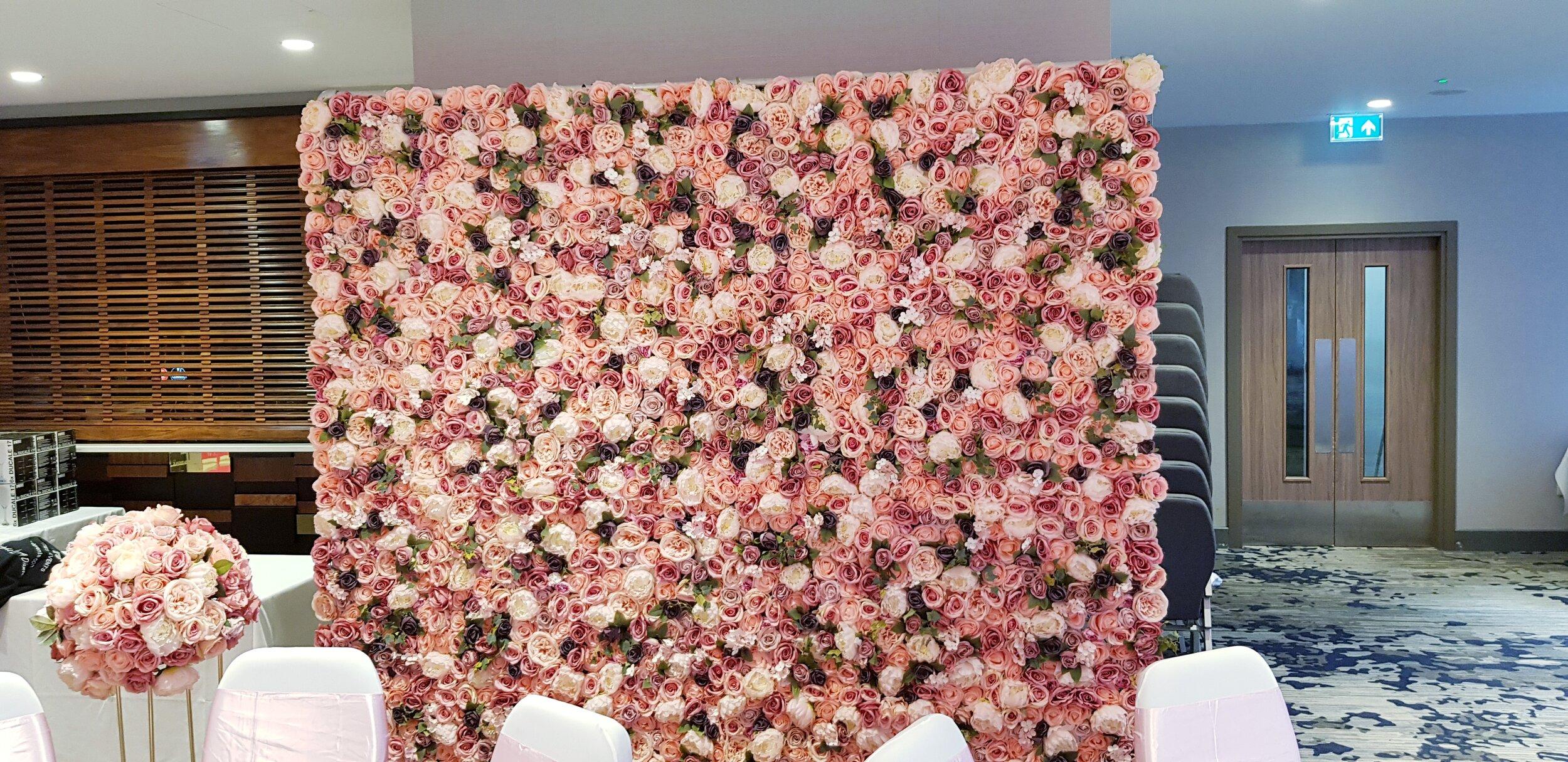 Luxury Pink Flower Wall - £195.00