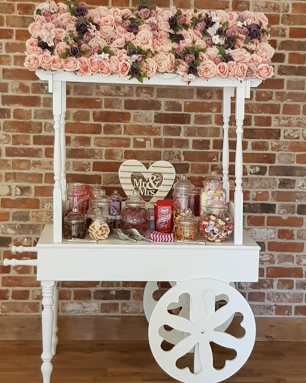 Candy Sweet Cart With Floral Roof - £85.00