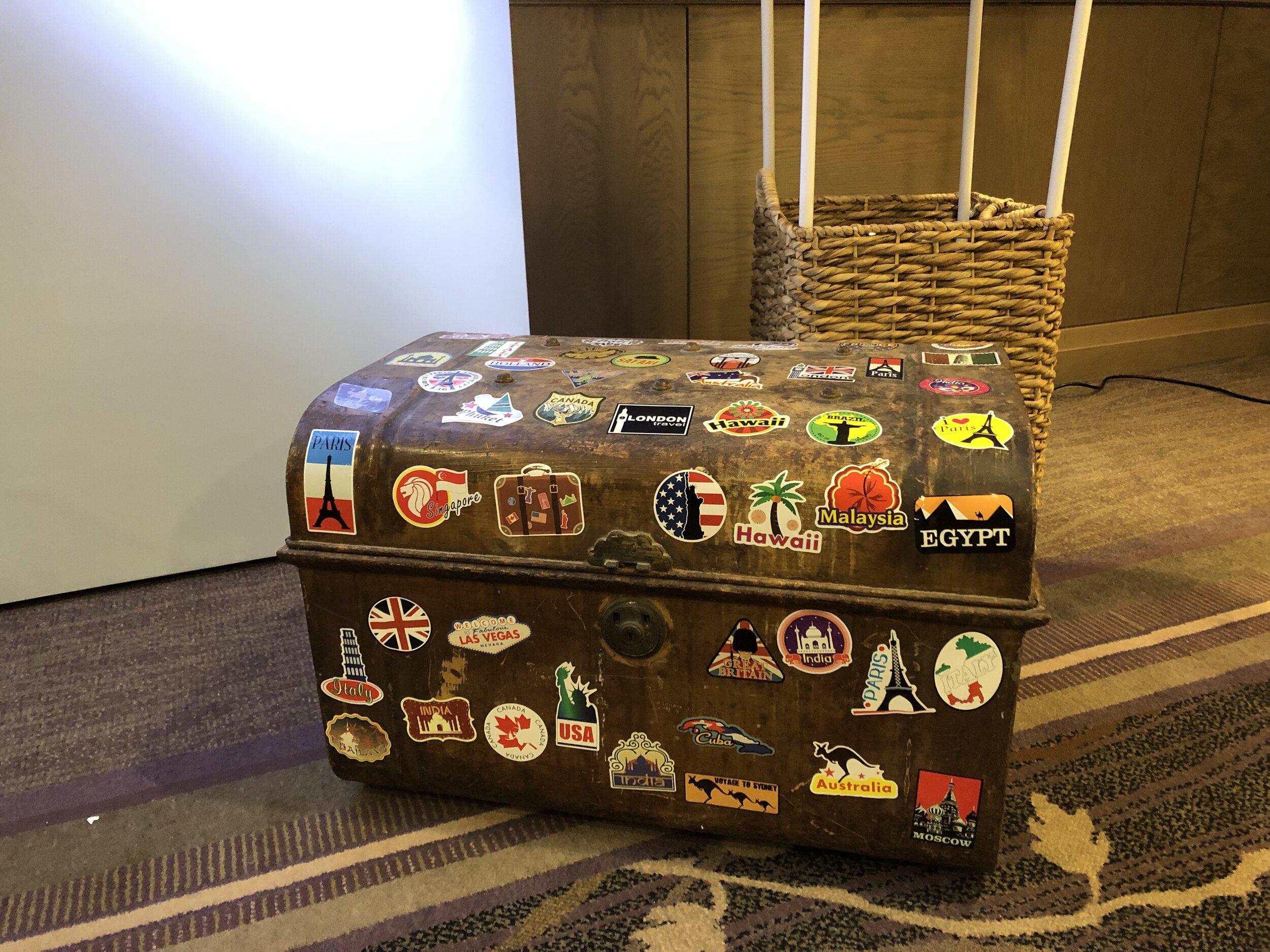 Vintage Metal Travel Trunk - £40.00
