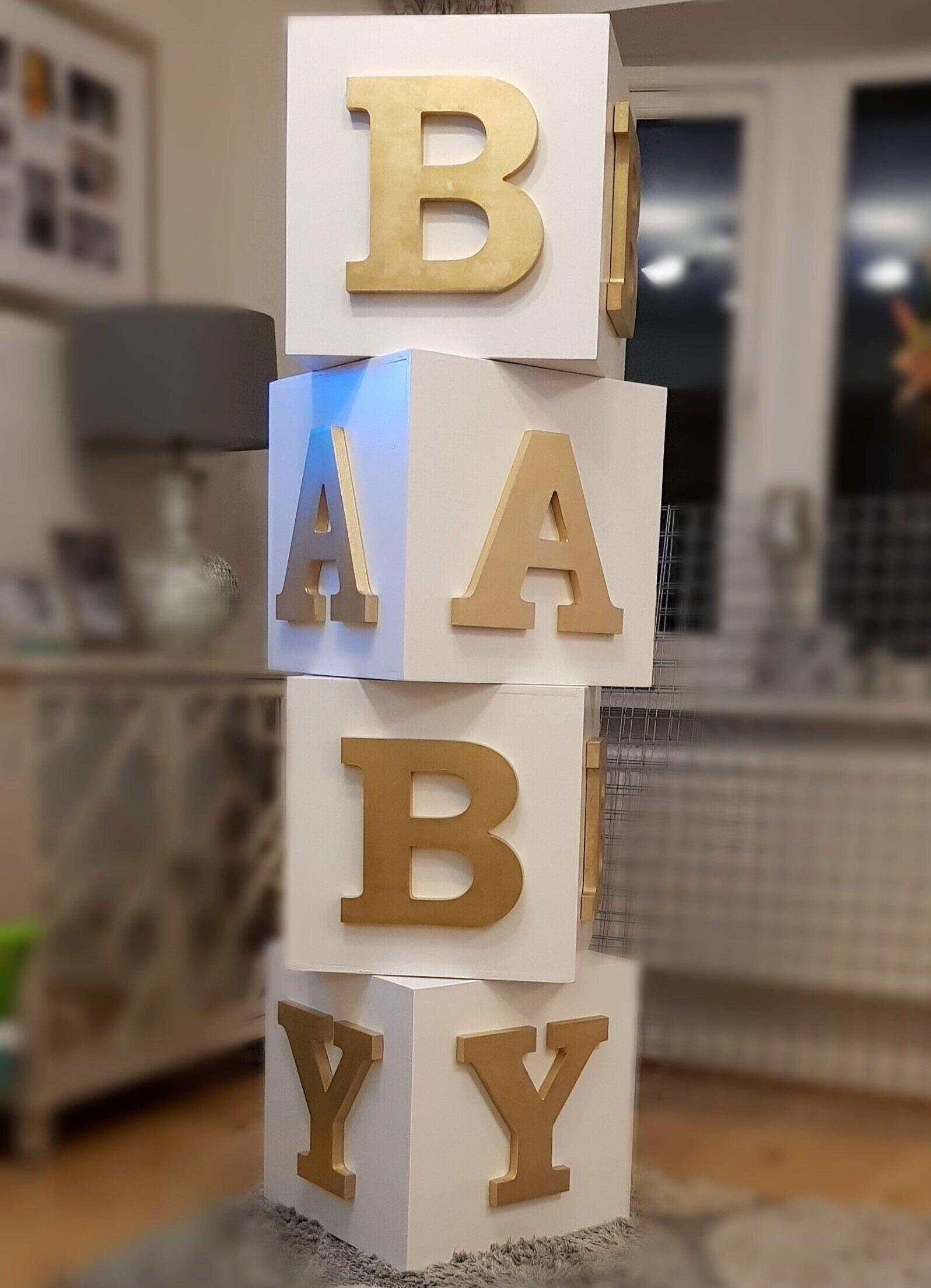 Gold/White 5FT BABY Blocks - £40.00