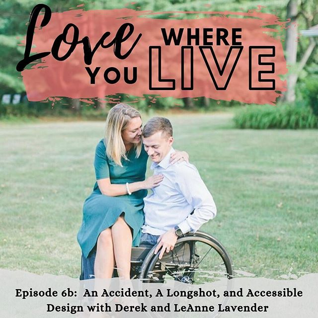 Part B is all about coming home from the hospital and adjusting to our new normal. If you listened to the first one, what surprised you? Derek talks even MORE on Part B, so make sure to give it a listen❤️ . @lovewhereyoulivepodcast @peachandpinehome Link in bio . . . #prayingforD #lovewhereyoulive #lovewhereyoudwell #podcast #loveanengineer #accessibility #accessibledesign #wagsinreallife #beating50percent #100outof100