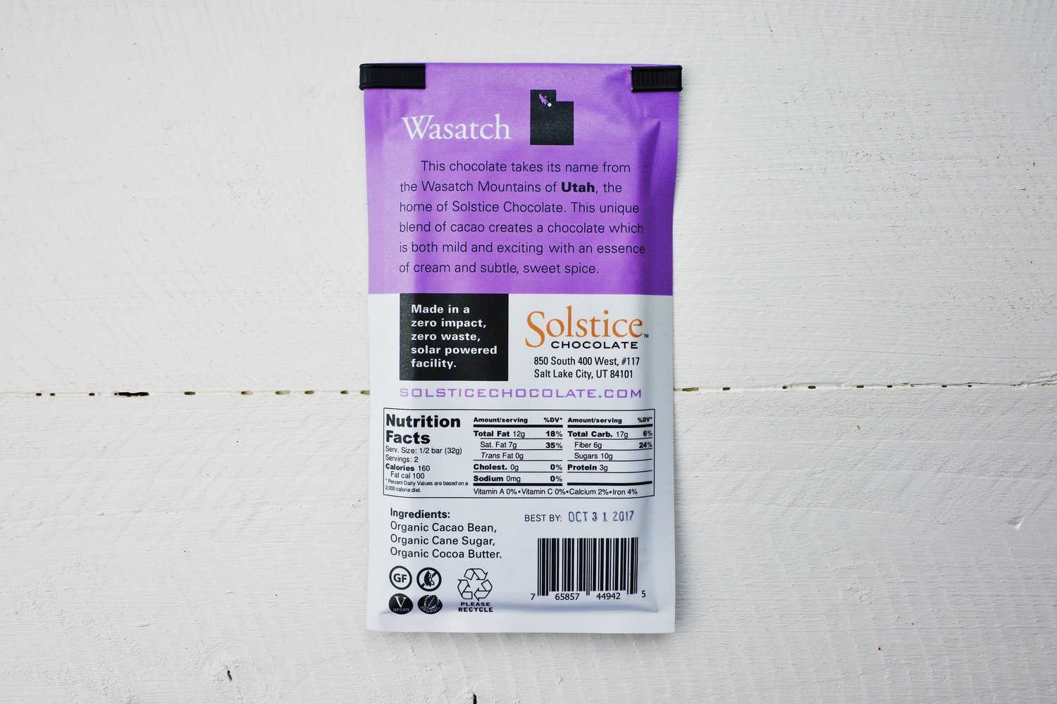 Solstice Chocolate - Wasatch Blend 70