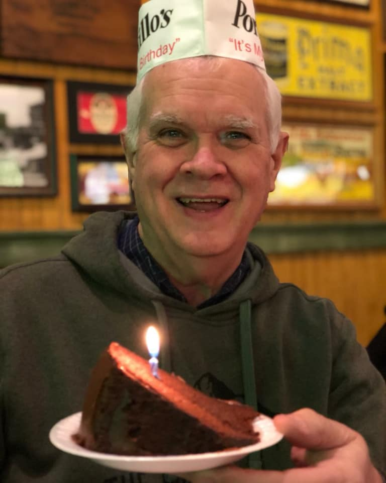 (This picture was taken on his last birthday, the day he lost his job. Nothing could rob his joy.)