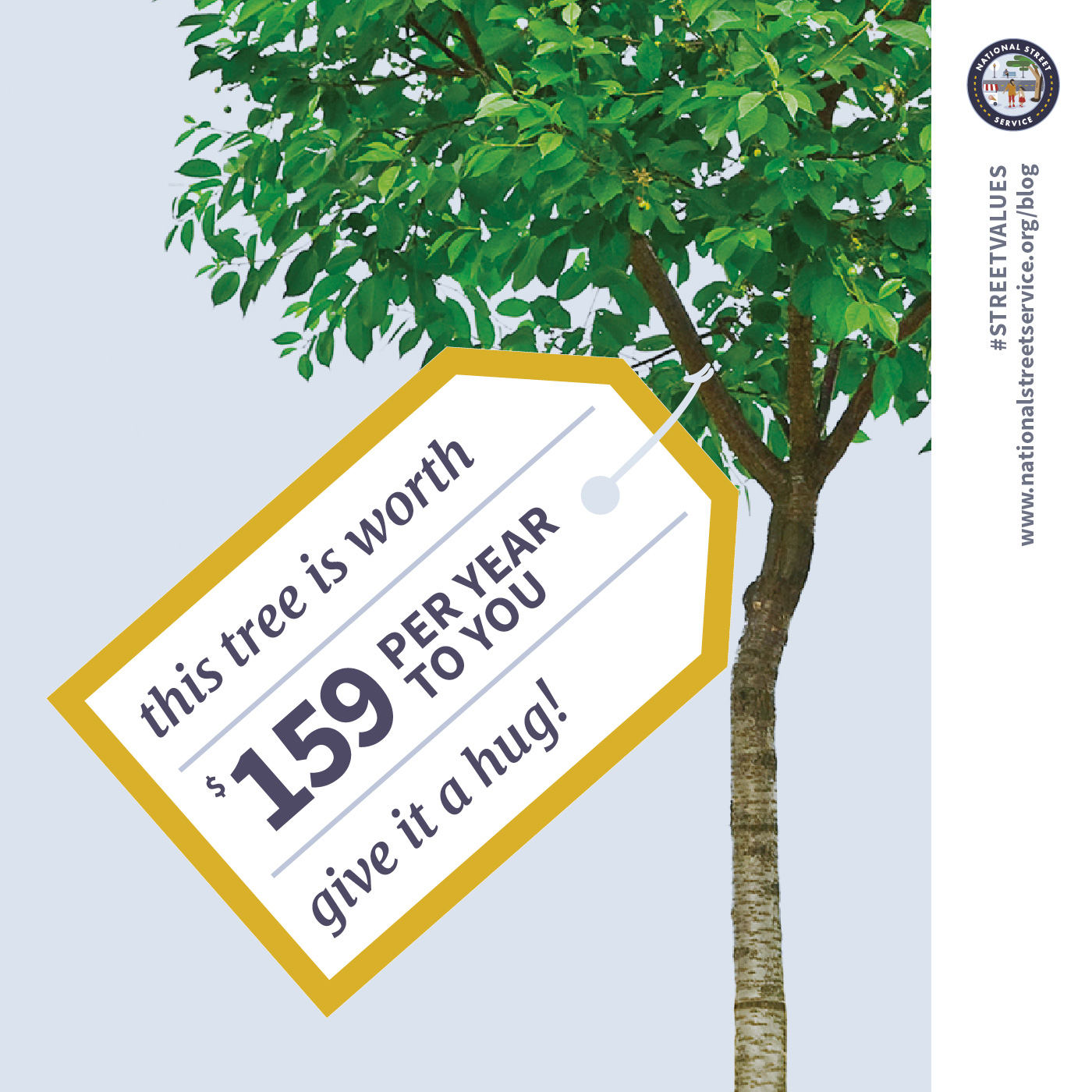 A single public tree provides an annual benefit of  $158.80