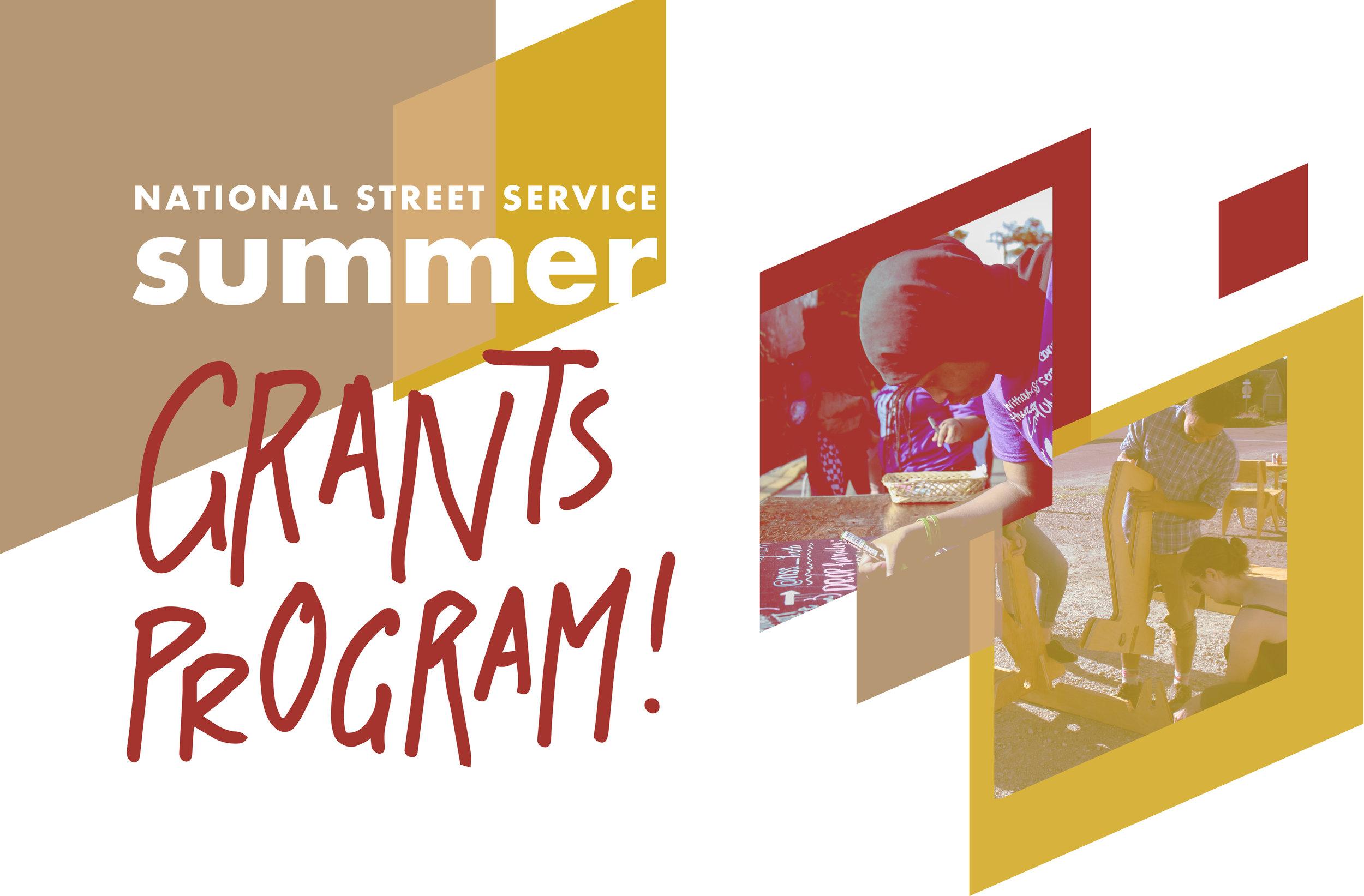 National Street Service 2018 Summer Grants Program