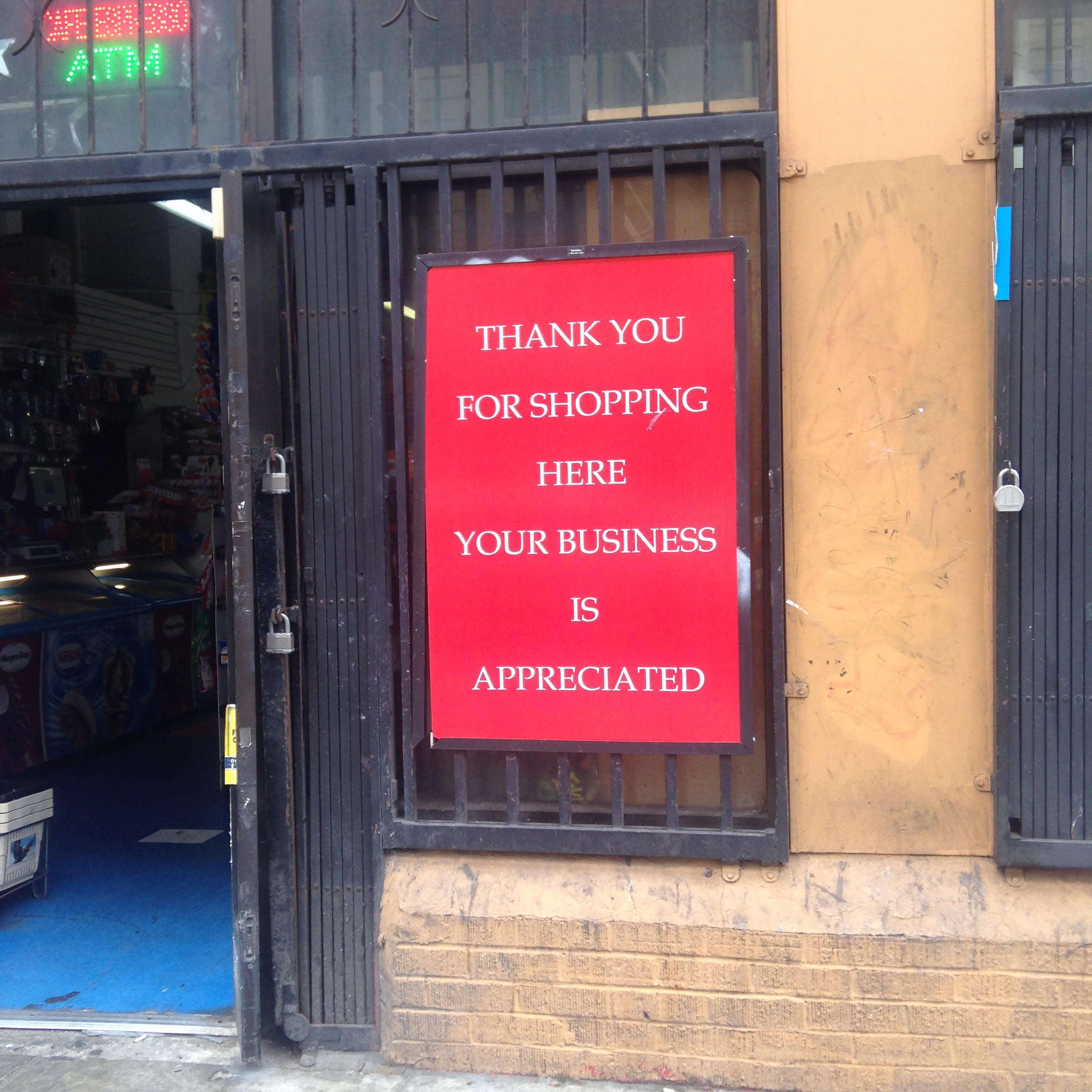 This poster message is seen often throughout the Tenderloin, and in many other central neighborhoods in the US.