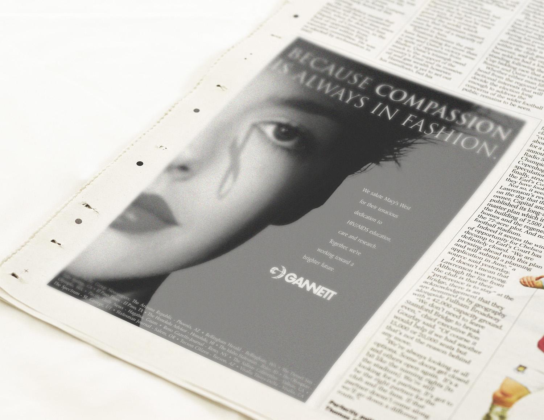 Newspaper Ad for Gannett