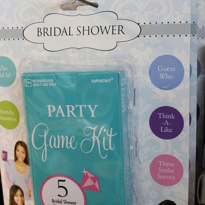 Bridal shower game kit