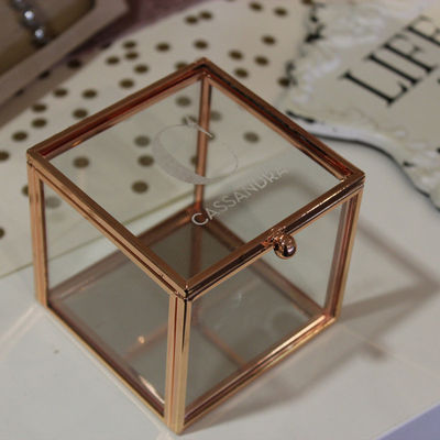 Rose Gold Monogrammed Ring Box