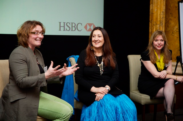 Lynne at HSBC Women's Conference with Juliet Davenport OBE, founder of Good Energy