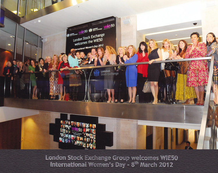Celebrating International Women's Day at the London Stock Exchange with UK's top business women