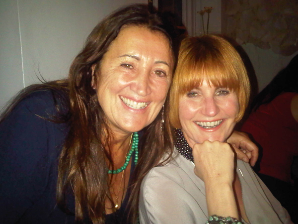 Lynne with friend and 'Queen of Shops' Mary Portas