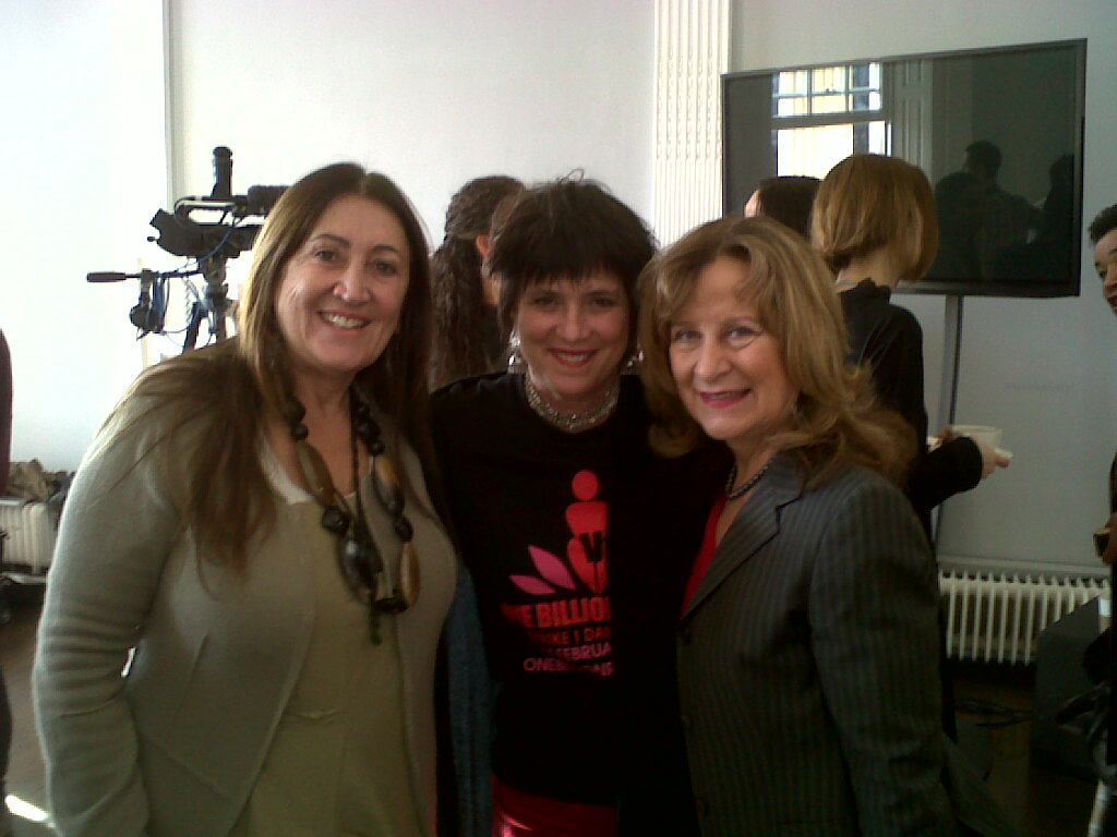 Lynne with V-Day Founder Eve Ensler and Baroness Helena Kennedy