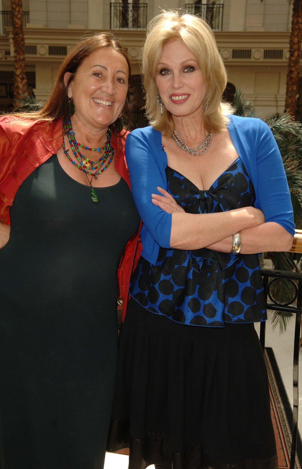 Hanging out with Joanna Lumley, aka Patsy, at a fashion industry event