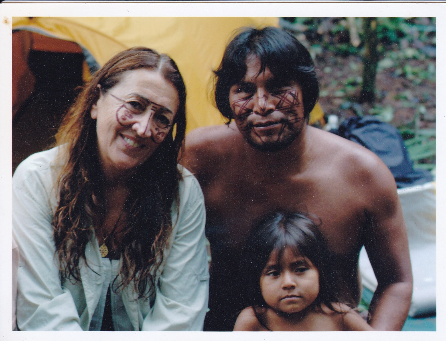 Lynne in the Amazon, visiting the Achuar Tribe of Ecuador, experiencing local Shamanic rituals.