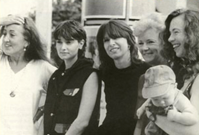 Lynne with Sinead O'Connor, Chrissie Hynde, Baroness Glenys Kinnock and Sarah-Jane Morris at What Women Want