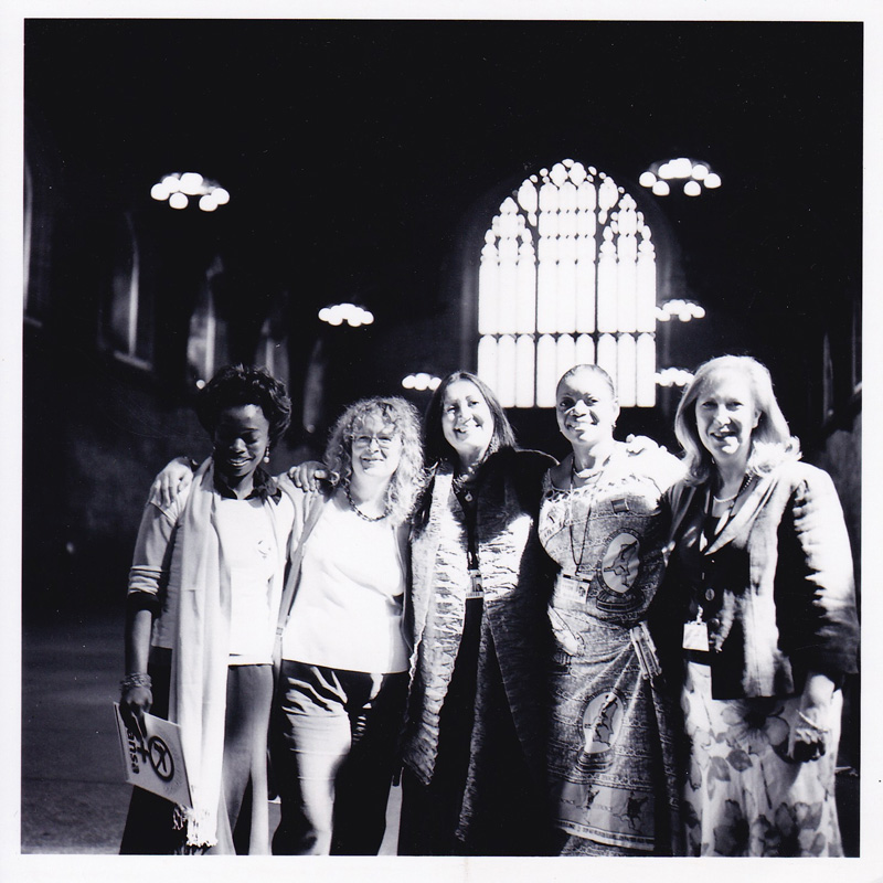 Lynne at the House of Commons with Congolese and British women politicians