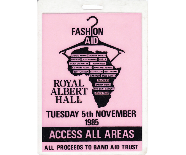 Lynne was one of the organisers of Fashion Aid 1985