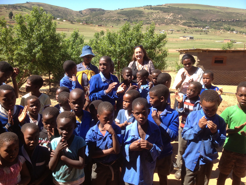 Lynne seeing the work of A.S.A.P. in South African villages
