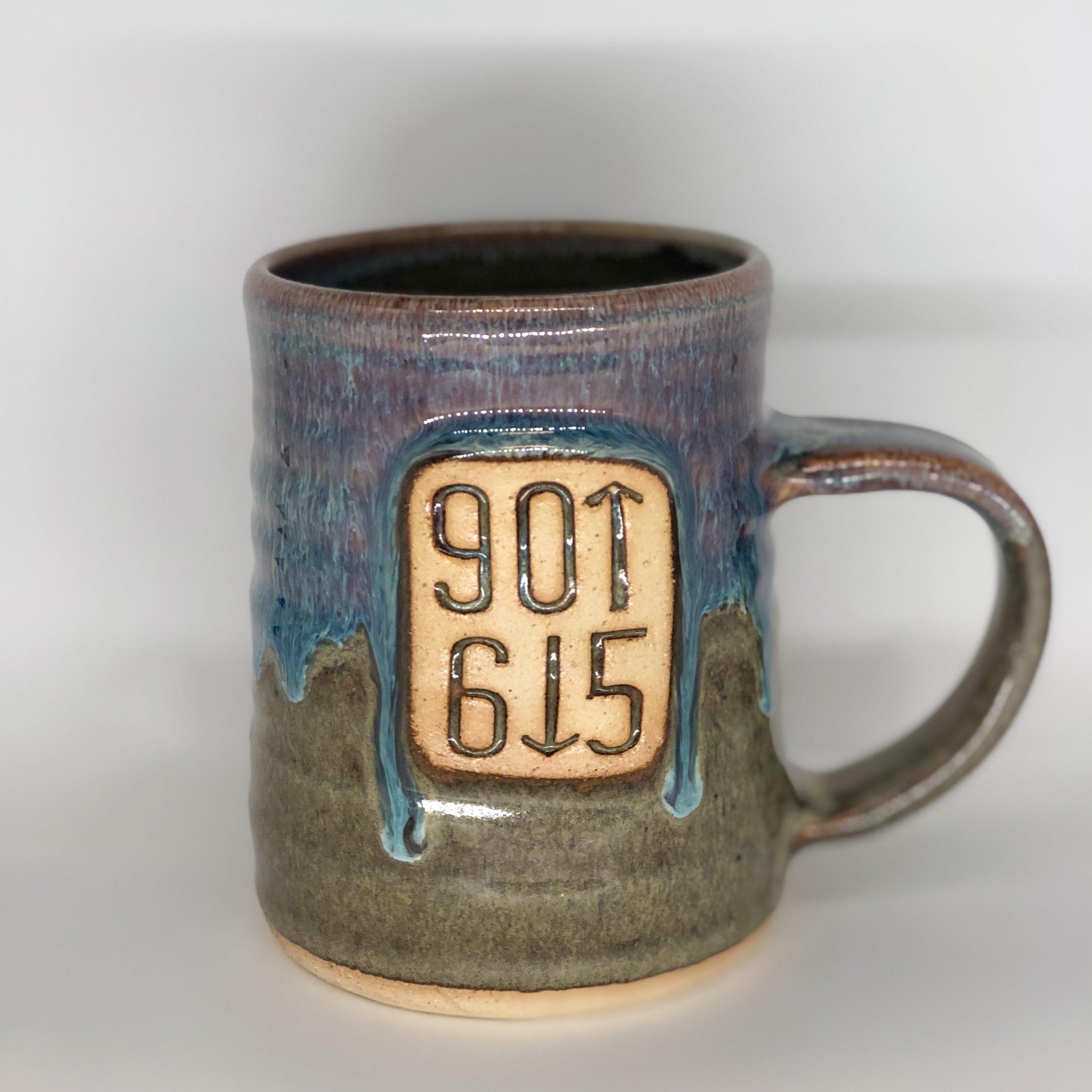 901 / 615 Mug, Tall Shape, Blue / Green Color