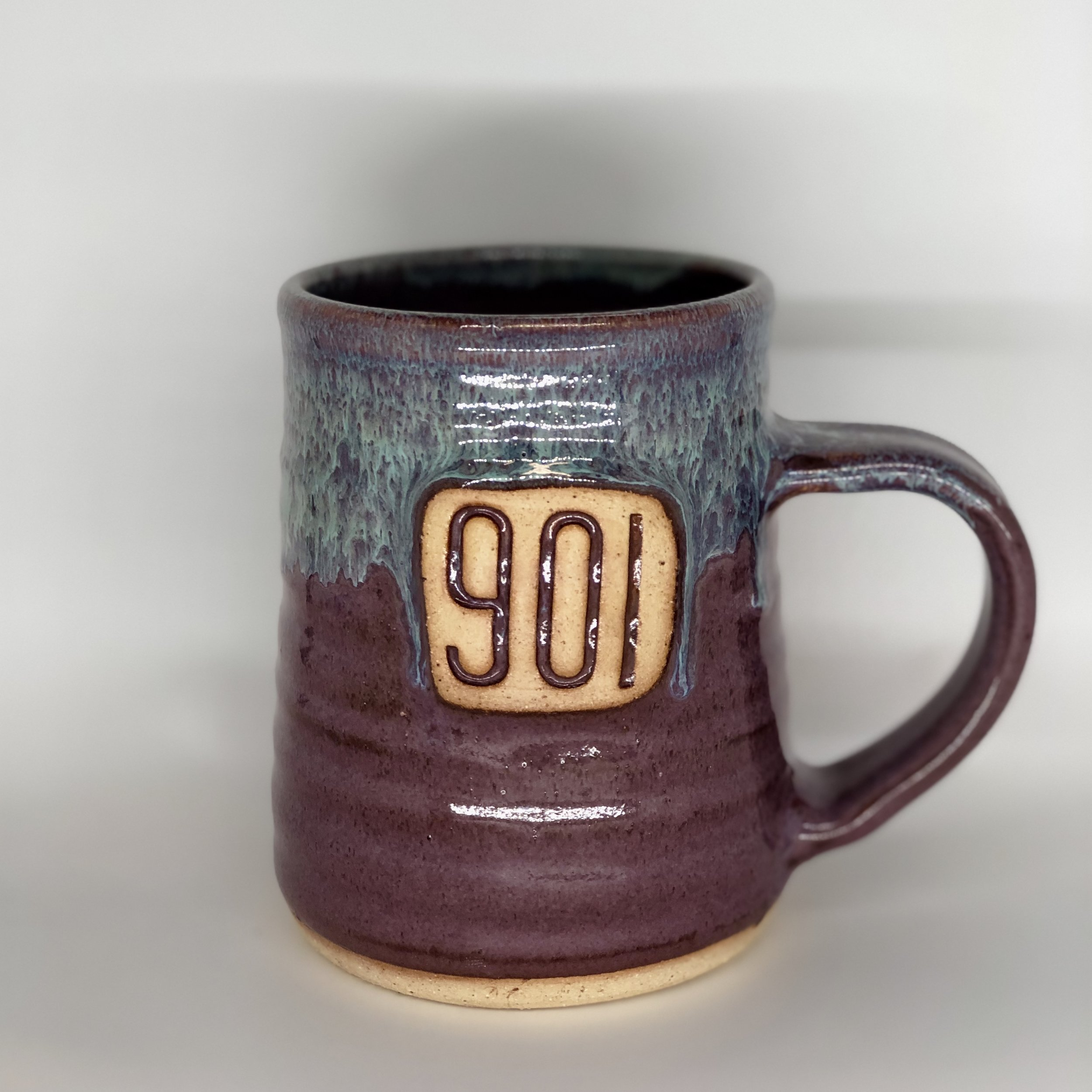 901 Mug, Tall Shape, Purple / Blue Color