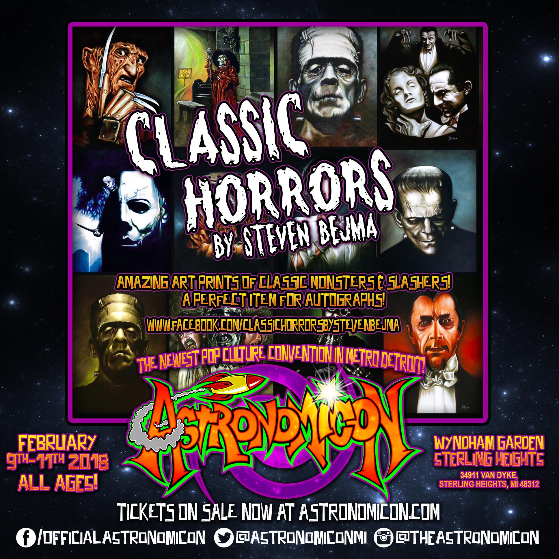 Classic Horror  s by Steven Bejma - https://www.facebook.com/classichorrorsbystevenbejma/