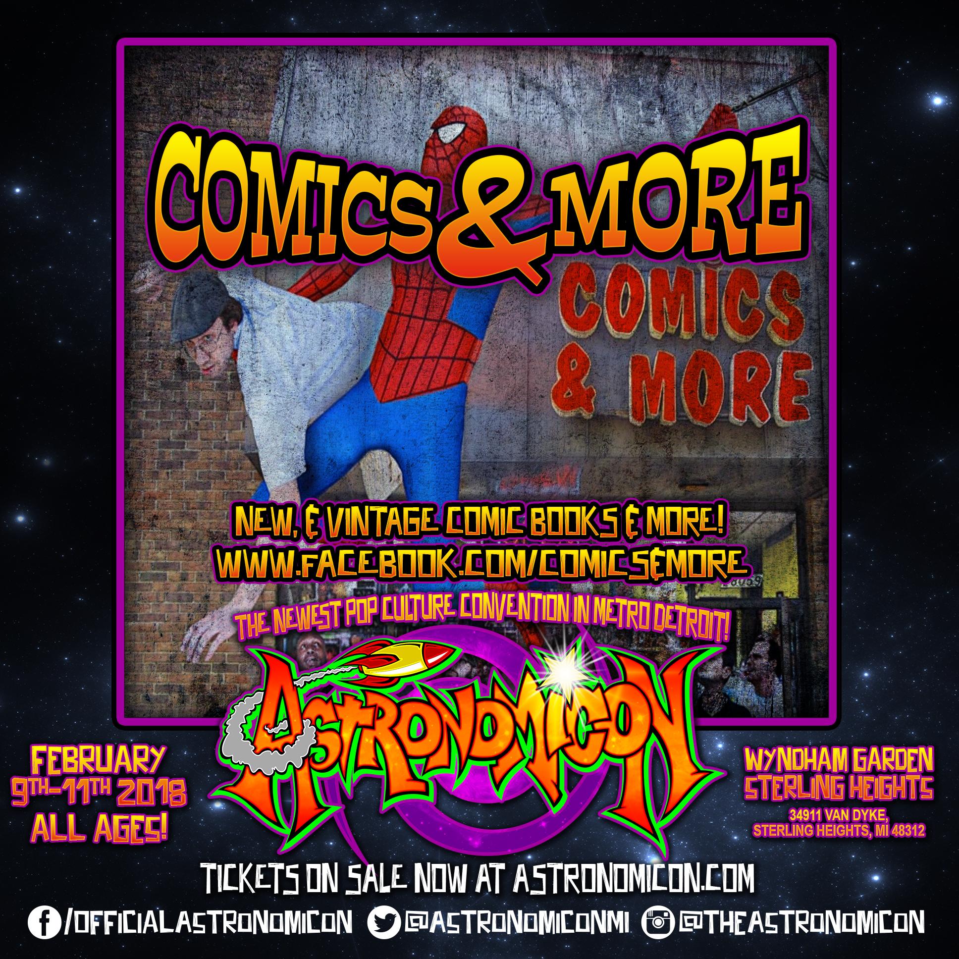 Comics & More - https://www.facebook.com/Comics-More-135031253176500/