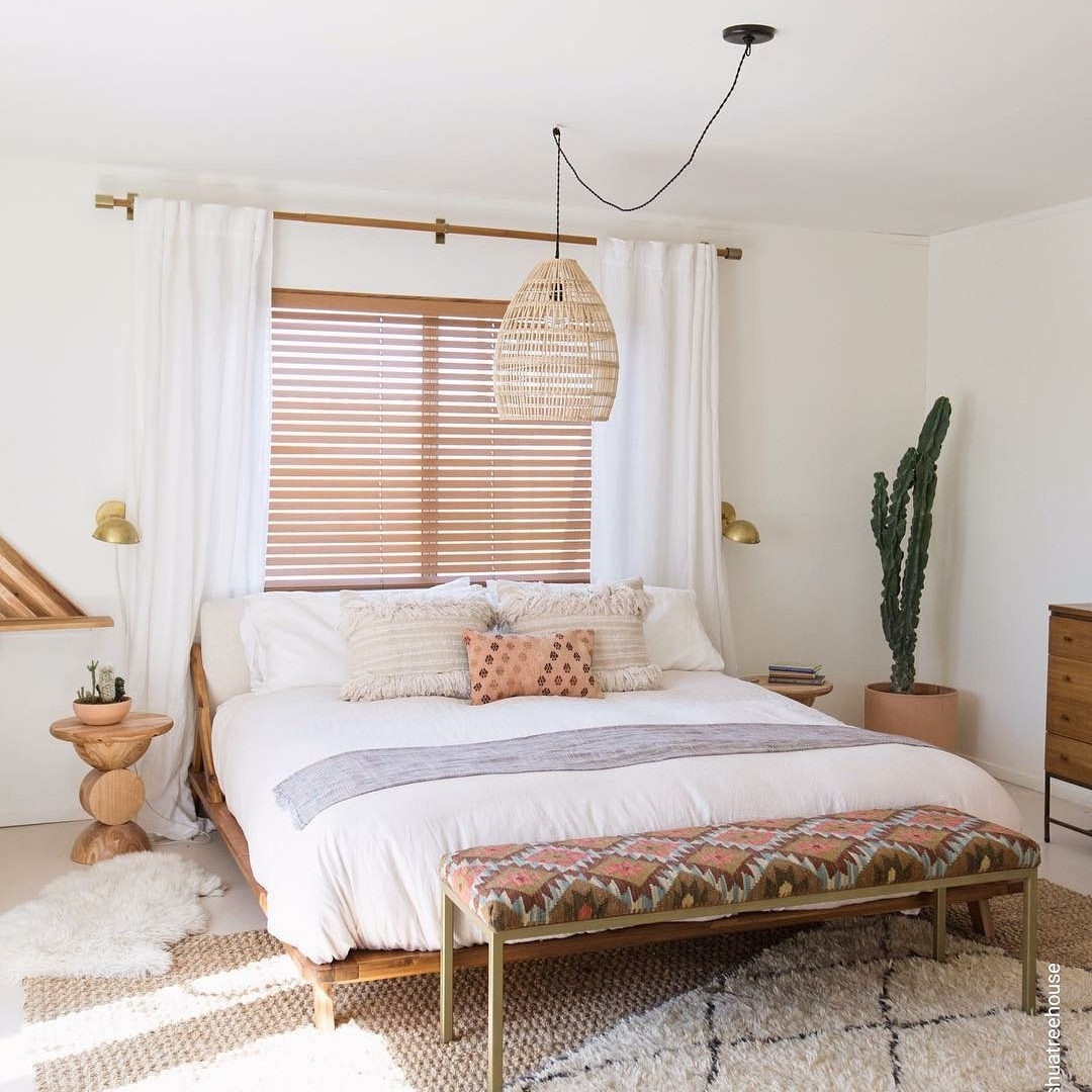 The Joshua Tree House - Finding this Turkish Kilim was the mission of the project but after having it shipped in, we were so excited to make their bench a reality. The bench looks gorgeous in their home. Look them up on your next vacation rental.